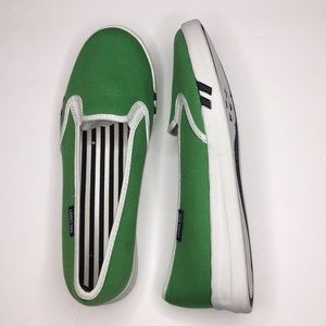 Lands End Canvas Slip Ons. Green. New. Sz 6